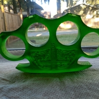 Small Holy Brass Knuckles 3D Printing 30236