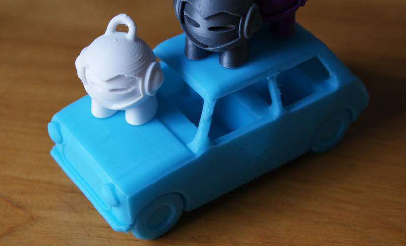 Le FabShop mini Mobile w/ moving parts 3D Print 3025