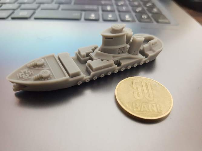 Rostock Class Armoured Supply Carrier 3D Print 30279