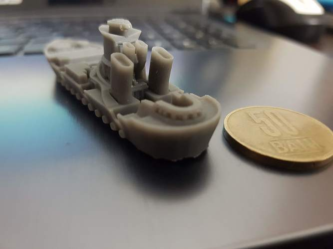 Rostock Class Armoured Supply Carrier 3D Print 30281