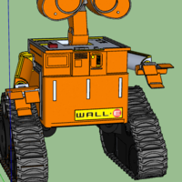 Small Wall-E Robot - Fully 3D Printed 3D Printing 30378