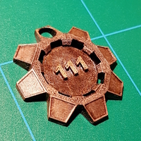 Small Fallout 4 Gear Keychain Dangler 3D Printing 30390