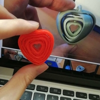 Small Coeurs tournants liés - turning hearts 3D Printing 30482
