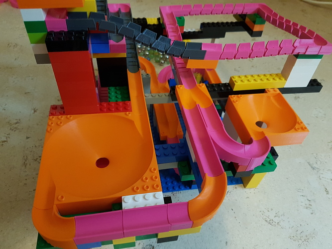 Marble Run Building Brick - Set STARTER 3D Print 30499