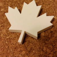 Small Maple Leaf Magnet 3D Printing 3058