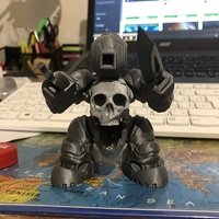 Small SkullBot 001 - via 3DKToys 3D Printing 30682