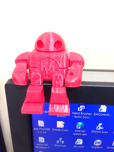 Mini Maker Faire Robot Action Figure 3D Print 3075