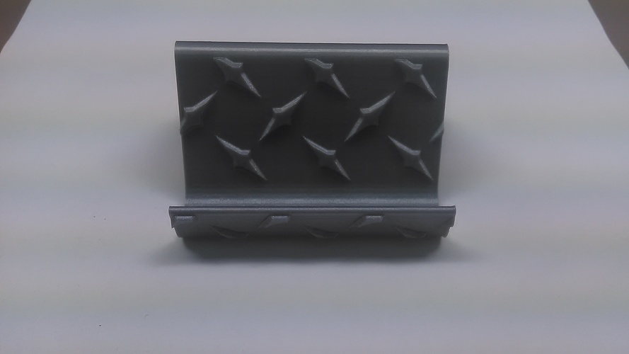 Diamond Plate Business Card Holder 3D Print 30860