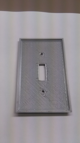 Diamond Plate Light Switch Cover 3D Print 30931