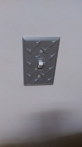 Diamond Plate Light Switch Cover 3D Print 30935