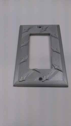 Diamond Plate Modern Outlet Cover 3D Print 30952