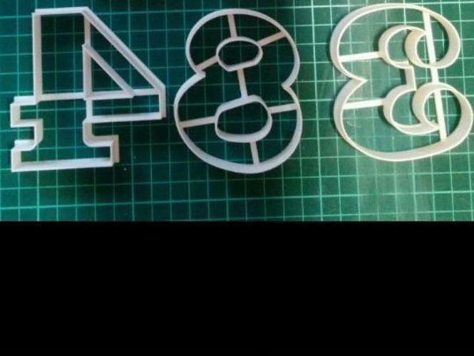 Beautiful Numbers 0-9_70mm-Cookie Cutters 3D Print 30972