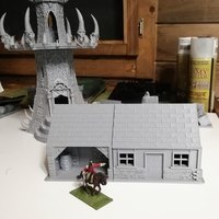 Small House 2 - Wargame medieval to napoleonic  3D Printing 31048