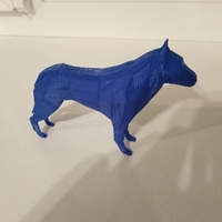 Small Practice 3D. P8. LowPolyDog 3D Printing 31129