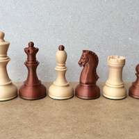Small Dubrovnik Style Chess Set 3D Printing 31141