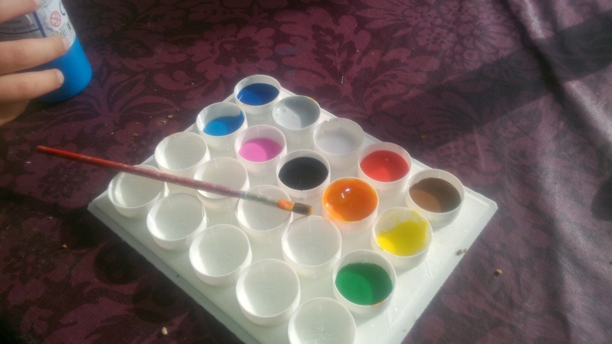 Paint Tray ____ each tray will individually be sealed 3D Print 3122