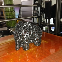 Small Elephant - Voronoi Style 3D Printing 3137