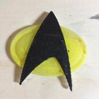 Small Star Trek Next Generation Communication Badge 3D Printing 31447