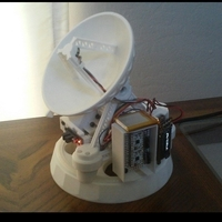 Small Desktop Satellite Antenna 3D Printing 31538