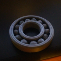 Small Fully Assembled Ball Bearing 3D Printing 31578