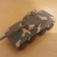 Small Rooikat Amourd Car( Wargame ) 3D Printing 31601