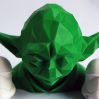 Small Low Poly Yoda 3D Printing 3195