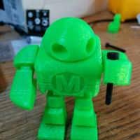 Small Mini Maker Faire Robot Action Figure 3D Printing 3208