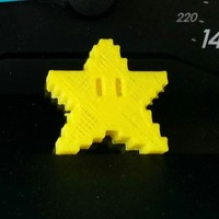 Small Pixel Star Pen Topper 3D Printing 3213