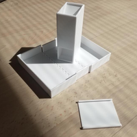 Small Dice Tower and Dice Box 3D Printing 32137