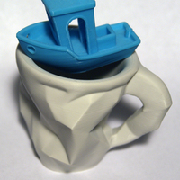 Small Crushed Espresso cup 3D Printing 3218