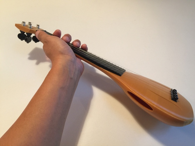 Gourd Shaped Ukulele with Conventional Headstock (Updated) 3D Print 3230