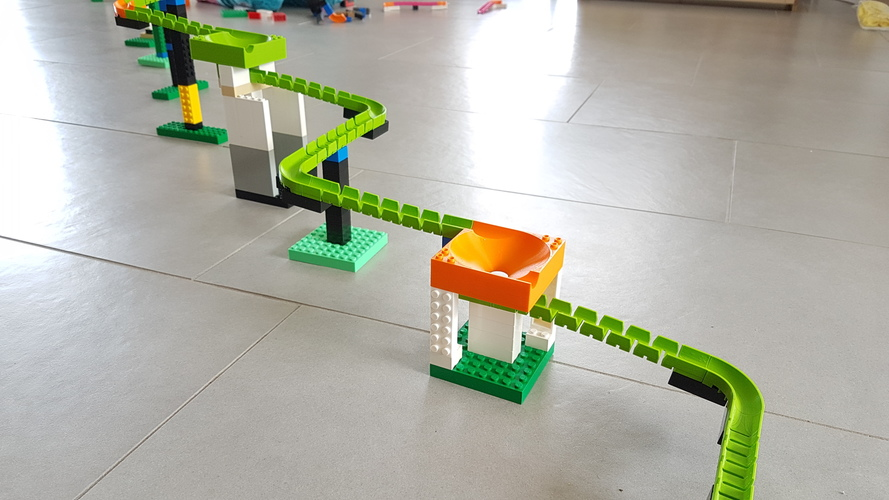 Lego Marble Run Brick - Set BASIC 3D Print 32349