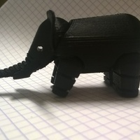 Small Elephant 3D Printing 3242
