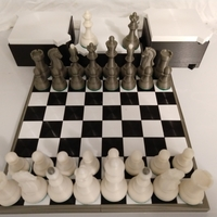 Small Dubrovnik Style Chess Set 3D Printing 32501