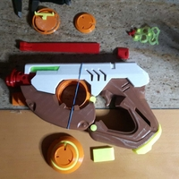 Small Tracer Gun with Electronics Parts - Overwatch 3D Printing 32827