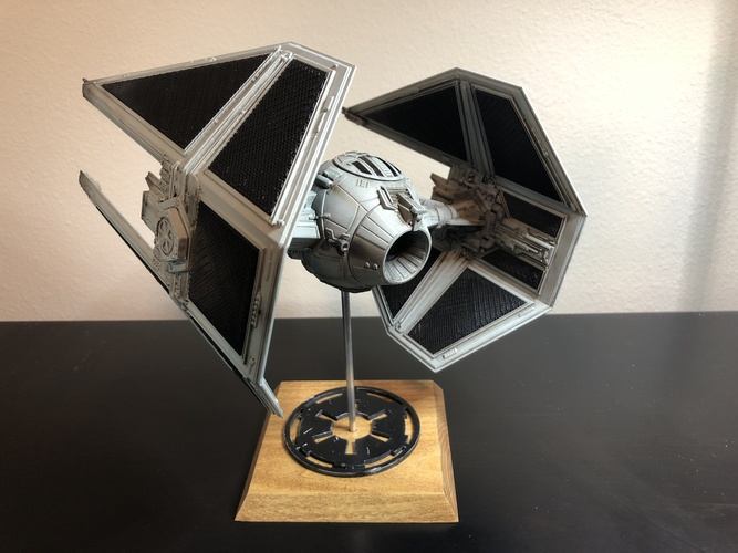 STAR WARS TIE INTERCEPTOR – Detailed & Printable 3D Print 33202