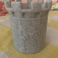 Small CASTLE PEN HOLDER 3D Printing 33236