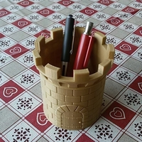Small CASTLE PEN HOLDER 3D Printing 33269