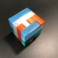 Small Printable Interlocking Puzzle #3 - Level 4 by Bram Cohen 3D Printing 33285
