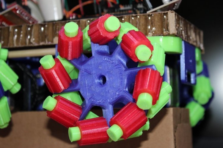 50mm and 100mm Mecanum Wheels 3D Print 33531