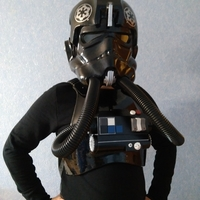 Small Star Wars TIE Pilot Chestbox 3D Printing 33781