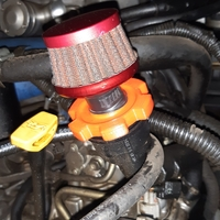 Small Subaru Oil Cap With Breather 3D Printing 33792
