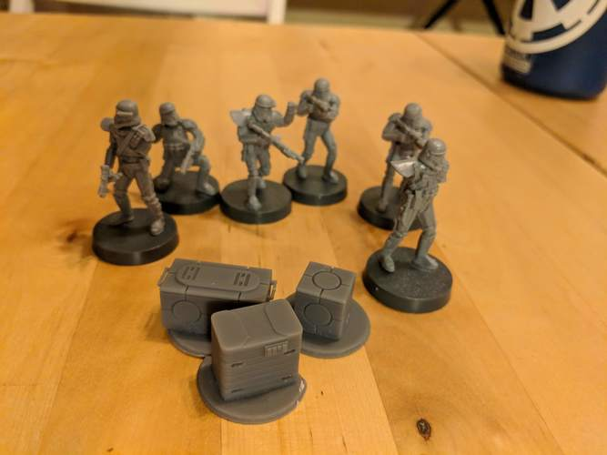 Legion scale boxes 3D Print 34106