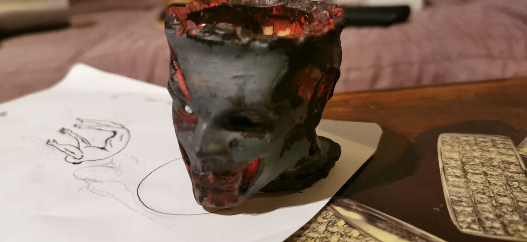 Zombie Head Candy Holder 3D Print 34128