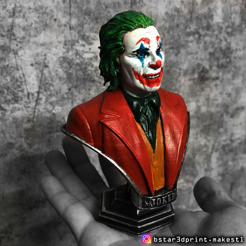 ​Joker Bust -from Joker movie 2019 3D Print 34172