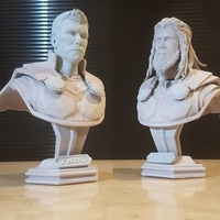 Small Thor Bust Avenger bust - 2 Heads - Infinity war - Endgame  3D Printing 34182