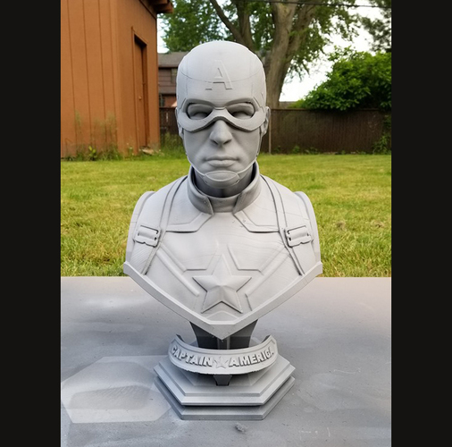 Captain America bust - with 2 Heads for bust - from Marvel 3D Print 34194