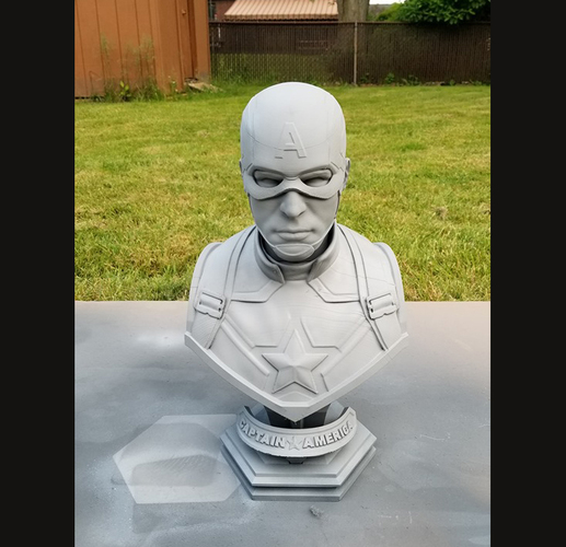 Captain America bust - with 2 Heads for bust - from Marvel 3D Print 34195
