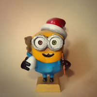 Small 3D Minion Bob Christmas Theme 3D Printing 34247