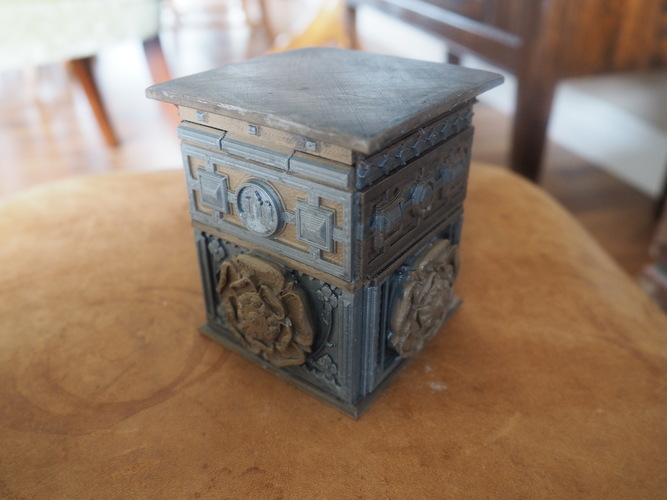 The Tudor Rose Box (with secret lock) 3D Print 3450